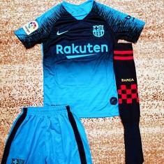 Echipament fotbal Fc Barcelona Messi  copii 5-14 ani, XS/S, YL, YM, YS, YXL, YXXL, Din imagine, Unisex