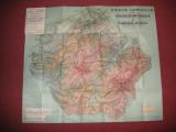 Harta turistica a regiunii Brasov - Cristianul Mare si Piatra Mare (1933)