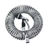 Set furtun spiralat For_q, 15 m, 9 mm, PVC, Gri, General