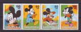 ALBANIA -1999-Walt Disney-Miky Maus-Serie completa de 4 timbre nestampilate MNH