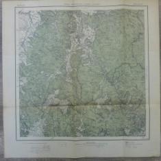 Pasul Bratocea si Vama Crasna// harta Serviciul Geografic Armatei 1916