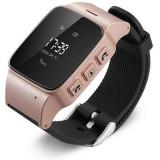 Resigilat! Ceas GPS Copii si Seniori iUni U100, Telefon incorporat, Pedometru, Notificari, Wi-fi, Rose Gold