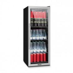 Klarstein BEERSAFE 5XL, frigider, pentru băuturi, 201 l, 0-10 ° C, sticlă, A +, oțel inoxidabil
