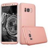 Husa Samsung Galaxy S8 Plus Flippy Full Cover 360 Roz Auriu Folie de protectie