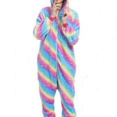 PJM138C-100 Pijama pufoasa intreaga cu model unicorn