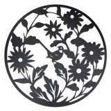 Decoratiune de perete din fier maro Ø 99 cm x 1 cm, Clayre & Eef