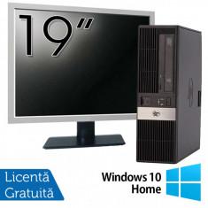 Calculator HP RP5800 SFF, Intel Core i3-2120 3.30GHz, 4GB DDR3, 250GB SATA, DVD-ROM, 2 Porturi Serial + Monitor 19 Inch + Windows 10 Home