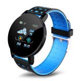 Cumpara ieftin Ceas Smartwatch Techstar® 119 Albastru, 1.3 inch IPS, Monitorizare Cardiaca, Tensiune. Oxigenare, Sedentary, Bluetooth, IP65