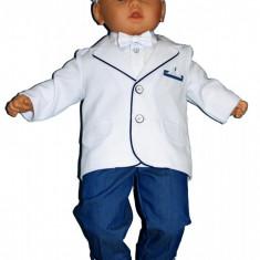 Costum de botez pentru baietei - Baby Colibra 98758, Albastru-Gri