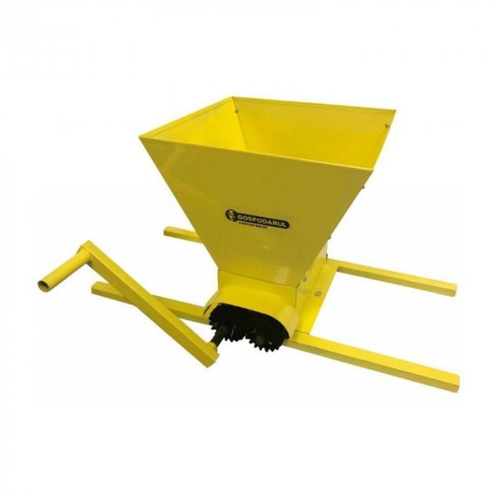Zdrobitor manual de struguri Gospodarul Profesionist, 20 l, 500 kg/h, 1000 x 520 x 360 mm