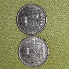 Lot 2 monede Romania 100lei , 1936-1938