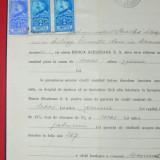 D19 Document 1929 cu timbre fiscale Ferdinand-efigia in cerc