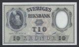 A5143 Sweden Suedia 10 kronor 1959 SEMNATURI DIFERITE UNC