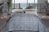 Cuvertură de pat Valentini Bianco din brocard, Fust 171 Gri