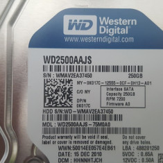 Hard disk Western Digital 250 Gb , 3.5 inch , 7200rpm , 8MB