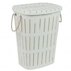 Cos plastic de rufe, 45 x 35 x 58 cm, 62 l, manere funie
