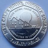 20 pence 2018 Gibraltar, New Calpe House, unc, Europa