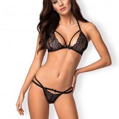 Set Sutien Si Chilotei Sexy, Negru - L/XL