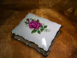 Cutie portelan trandafiri aur 24k colectie cadou vintage