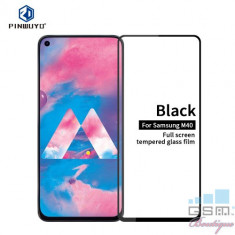 Folie Sticla Samsung Galaxy M40 Protectie Display Acoperire Completa Neagra foto