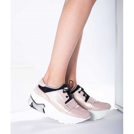 Pantofi piele naturală 40 Roz
