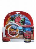 Set mic dejun, 3 piese - Cars Raceaway, Disney, 64272, Albastru