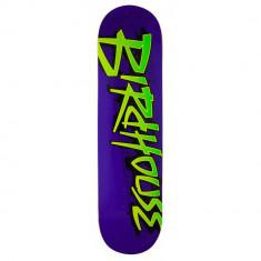 """Deck Skateboard Birdhouse Logo Splatter Purple 8.13"""""""