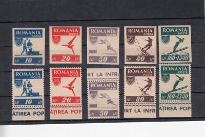 ROMANIA 1946 LP 199    OSP   DANTELAT SI NEDANTELAT  SERII  MNH foto