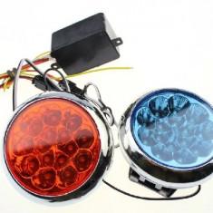 Stroboscop Led - Leduri Moto - Scuter - Atv - flash-uri politie - 12V