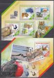DB Niger Fauna WWF Timbre pe Timbre MS + SS MNH, Nestampilat