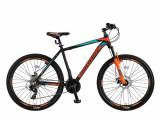 """Bicicleta MTB Umit Mirage 2D Cadru 16"""", 21 Viteze , Culoare Negru/Portocaliu, RoPB Cod:26670160003"""