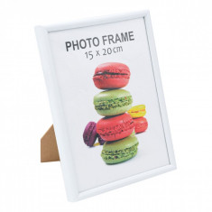 Rama foto decorativa, actual investing, 15×20 cm, alb