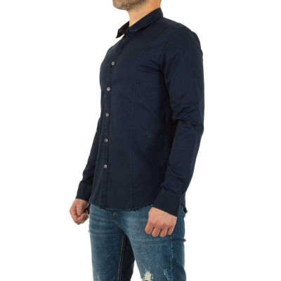 Camasa barbateasca, casual, de culoare bleumarin - Y.Two Jeans foto