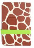 Husa cu stand universala reglabila Giraffe maro+gri pentru tablete de 7 - 8 inch