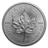 CANADA  5 DOLLARS -MAPLE LEAF- 2018 1 oz. / 31,103 gr. / Ag. 0999 / 38mm, America de Nord