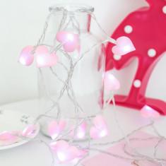 Lumini fotografii, 1 metru, 10 leduri, model inimioare roz