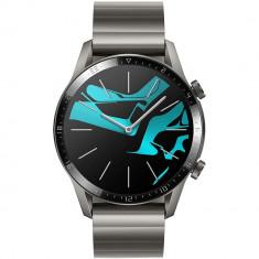 Smartwatch Watch GT 2 Elite 46mm Titanium Si Curea Metalica Gri