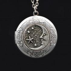 Pandantiv cu lant pentru poze luna si stelele
