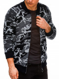 Cumpara ieftin Bluza casual barbati B1028-gri-camuflaj, L, M, S, XL