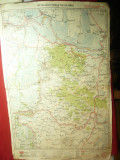 Harta Zonei Galati- Braila- Tulcea Ismail -litografie 1928 dim.= 32x50cm pr Mold