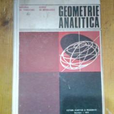 Geometrie analitica-Gh.Vranceanu,George Gr.Margulescu