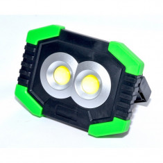 Lampa de Lucru tip Proiector , 2 x COB + 1SMD + Solar