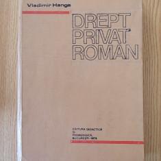 DREPT PRIVAT ROMAN- HANGA