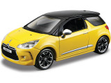 Macheta Masina Citroen DS3 BBURAGO Scara 1:32 Yellow