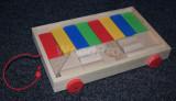 Carucior cu Cuburi Lemn - Multicolor