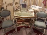 Masa toaleta cu scaune,rococo vienez/baroc venetian,Ludovic XV,sec XIX, Consola, 1800 - 1899