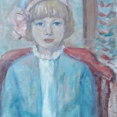 Portret de fata , tablou de pictor clujean , pictura de Doina Savu