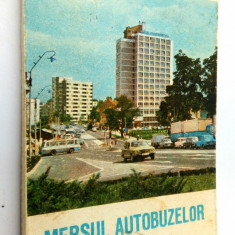 Mersul autobuzelor pentru judetul Sibiu 1983 - 1984