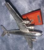 MACHETA AVION cu elice FOCKE-WULF FW200-CONDOR-1937,Metal argintat,macheta veche, Amodel