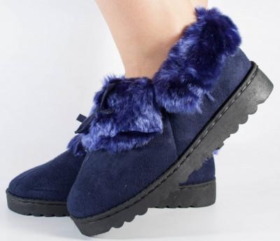 Papuci de casa bleumarini (cod 418011) foto